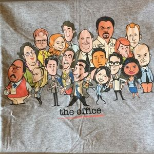 The Office T-shirt Caricatures of Cast NBC 2xl